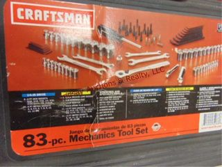 83pc Craftsman 1 4   3 8 drive socket set