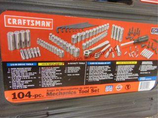 104pc Craftsman3 8 drive socket set