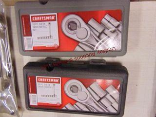 Pair of Craftsman 10pc 3 8 drive socket sets
