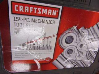 154pc Craftsman 3 8   1 2 drive set  Misng 1socket