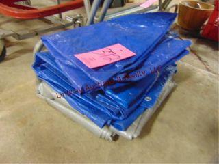 4 used tarps misc sizes