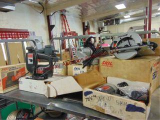 6 elec pwr tools  Skil circ  saw  belt sander