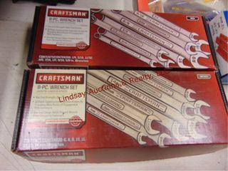 2 Craftsman 8pc wrench set SAE   Metric