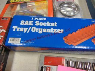 3pc SAE socket tray organizers