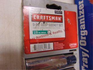 Craftsman 9pc deep well socket set 1 2 drive