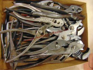 Flat of various type pliers
