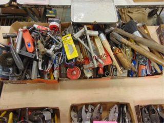 3 Flats mixed tools  razors  hammers  scissors