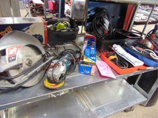 10 misc pwr tools  circ saw  drills  sander