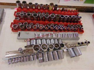 Group of craftsman 3 8 drive sockets