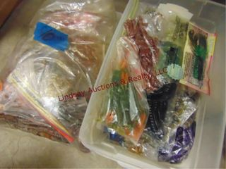 3 totes   bag of rubber worms