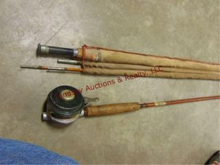 Southbend 24 9 fly fish rod   Hawthorn rod reel