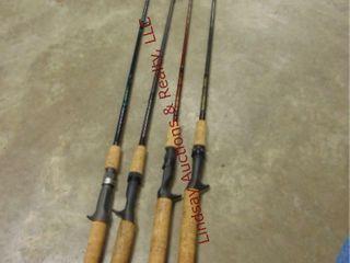 4 fish rods NO reels