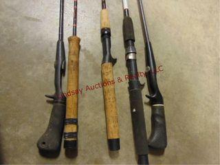 5 fish rods NO reels