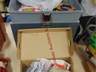 Tackle box  reel cover  box of fish lures