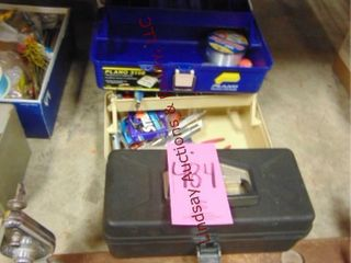 3 tackle boxes  craig master rewinder    contents
