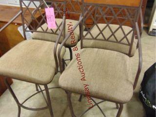 4 barstools w  cloth seats 30  tall