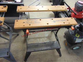 B D Workmate plus adj  table  29 w x 22 d