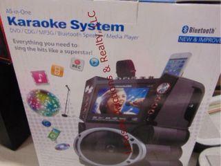 All in one Bluetooth karaoke system
