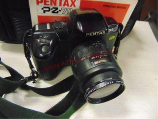 Pentax PZ 70 35mm camera w  bag   books