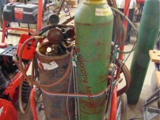 Oxy Ace cart w  tanks  Craftsman gauges