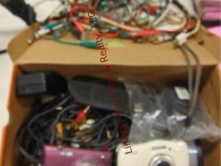 Box of cords  2 nikon digital cameras