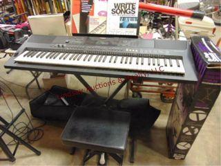 Yamaha PSR EW400 keyboard  stand  bench