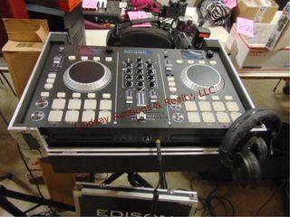Edison Pro sound mixer w  stand   head phones
