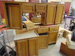 3pc wood cabinets  Bottom  63 5 x 19 x 33 5