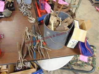 Can w  railroad spikes  nails    misc hand tools