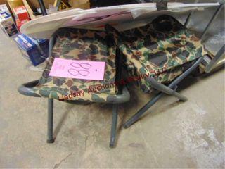 2  Folding camp seats