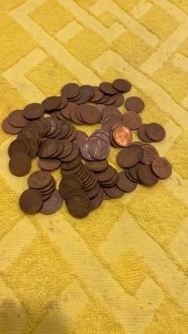 2 ROllS Of 1940IJS   50IJS WHEAT PENNIES
