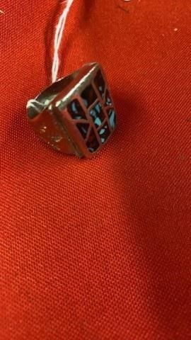 MENS SIZE 10 RING WITH TURQUOISE