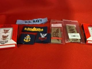 U S NAVY PATCHES AND PINS