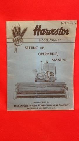 MM HARVESTOR MODEl G14 5 SETTING UP OPERATING