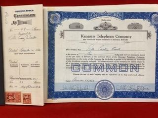 BOOK OF OlD KENESAW TElEPHONE CO STOCK BEFORE lT