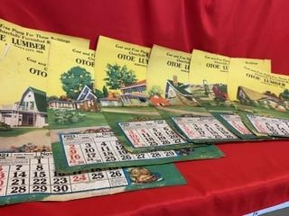 7  OTOE lUMBER CO CAlENDAR PAGES FROM 1921  17
