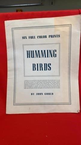 1946 COlOR PRINTS   HUMMINGBIRD BIRDS BY JOHN