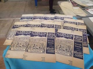 12 NEW OlD STOCK POPCORN BOXES   1937