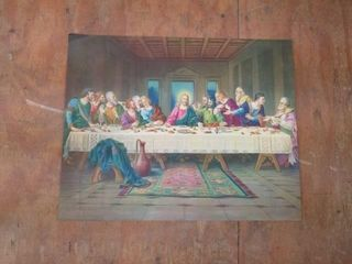 lAST SUPPER PICTURE   16 X19 7 8