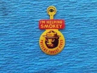 1950 S RARE SMOKEY THE BEAR lAPEl PIN