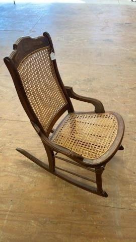 GRANNY ROCKER WICKER SEAT AND BACK