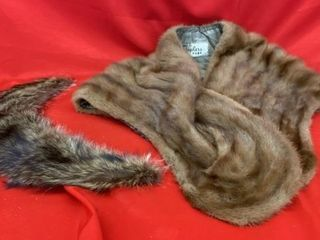 MINK STOWl BY DUPlER FURS AND FUR HAND STITCHED