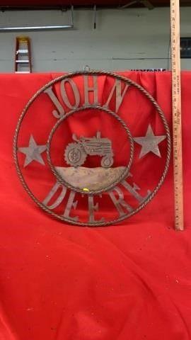 METAl JOHN DEERE SIGN
