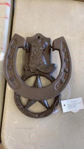 HORSE SHOE METAl KNOCKER