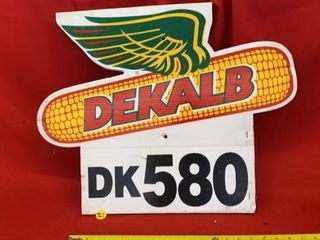 DEKAlB SIGN  HARD SHINY CARDBOARD