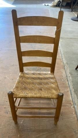 STRAIGHT BACK CHAIR WITH CANING SEAT