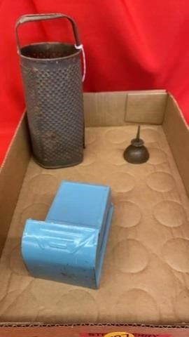 PRIMITIVE GRATER  MATCH HOlDER AND MINI OIl CAN