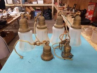 VINTAGE lIGHT SHADES AND FIXTURES