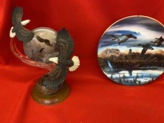 TERRY REDlAND GEESE PlATE AND BRADFORD EXCHANGE