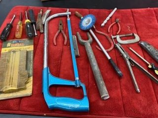 HACK SAW AND MISC TOOlS